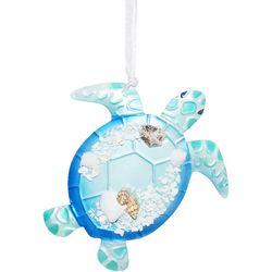 Brighten the Season Sea Turtle Capiz Shell Ornament