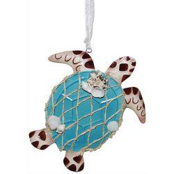 Sea Turtle & Shell Ornament