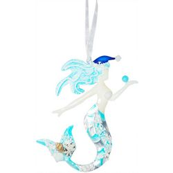 Brighten the Season Mermaid Shell Capiz Ornament