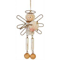Brighten the Season Wood Angel Ornament