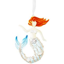 Brighten the Season Mermaid Tin Shell Ornament