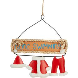 Gone Swimming Santa Suit Wall Art