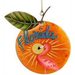 Florida Glitter Orange Ornament