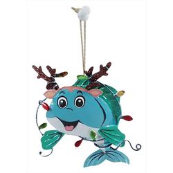 Dolphin Antlers & Lights Ornament