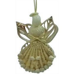 Brighten the Season Angel Shell Wings Ornament