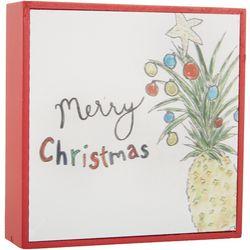 Pineapple Merry Christmas Box Decor