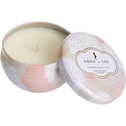 8 oz. Champagne Lily Tin Candle