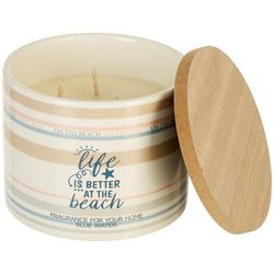Aromart 11 oz. Life Is Better At The Beach Jar Candle