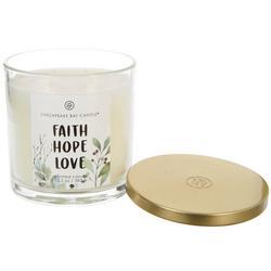 13.5 oz. Faith Hope Love Jar Candle