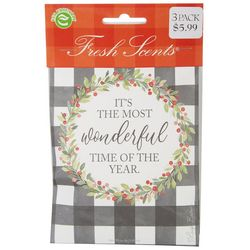 WillowBrook 3-pk. Most Wonderful Time Of The Year Sachet