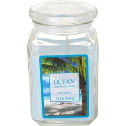 Langley 16 oz. Ocean Soy Blend Jar Candle