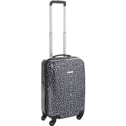 20'' Leaving Today Grey Leopard Spinner Luggage