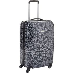 25'' Leaving Today Grey Leopard Spinner Luggage