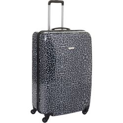 29'' Leaving Today Grey Leopard Spinner Luggage
