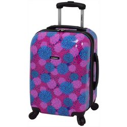 Leisure Luggage 20'' Magenta Pom Pom Hardside Luggage