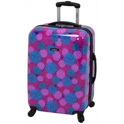 Leisure Luggage 24'' Magenta Pom Pom Hardside Luggage