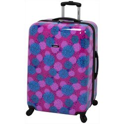 Leisure Luggage 28'' Magenta Pom Pom Hardside Luggage
