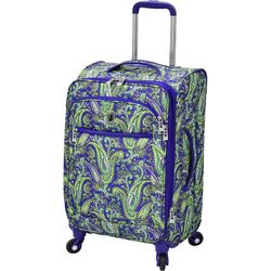 London Fog 21'' Mayfair Purple Paisley Spinner Luggage