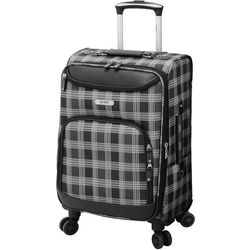 Quest 20'' Constellation Black Plaid Spinner Luggage