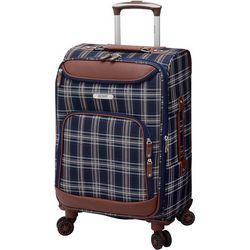 Quest 20'' Constellation Navy Plaid Spinner Luggage
