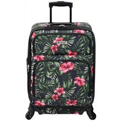 Leisure Luggage 21'' Lafayette Hibiscus Palm Spinner Luggage