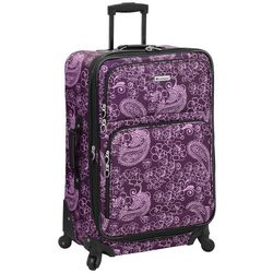 Leisure Luggage 25'' Lafayette Purple Paisley Luggage