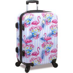 20'' Flamingo Stripe Hardside Spinner Luggage