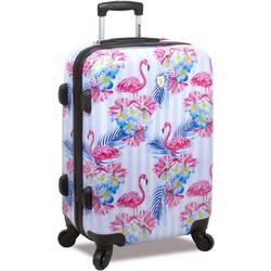 24'' Flamingo Stripe Hardside Spinner Luggage