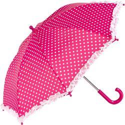 ShedRain Kid's Pink Polka Dots Stick Umbrella