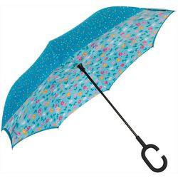 ShedRain UnbelievaBrella Dual Print Blue Reverse Umbrella