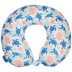 Sea Turtle & Starfish Travel Pillow