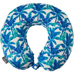 Blue Palm Tree Travel Pillow