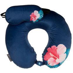 2-pc. Hibiscus Travel Pillow & Eye Mask Set