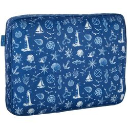Navy Sea Square Travel Pillow