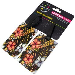 Miami Carry On 2-pc. Black Floral Luggage Tag