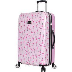 Betsey Johnson 26'' Flamingo Strut Spinner Luggage