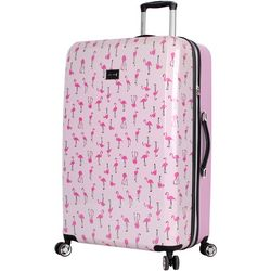 Betsey Johnson 30'' Flamingo Strut Spinner Luggage