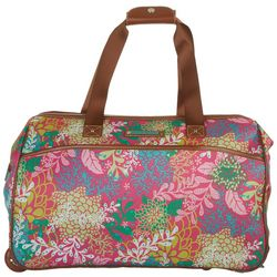 Lily Bloom 20'' Floral Reef Wheeled Duffel Bag