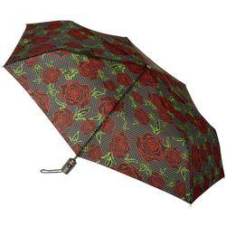 Totes Pin Dot Roses Neverwet Auto-Open Umbrella