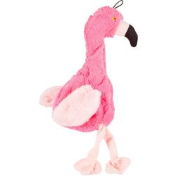 Bounce & Pounce Flamingo Crinkle Dog Toy