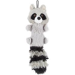 Bounce & Pounce Raccoon Squeaker Plush Dog Toy