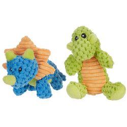 2-pc. Mini Dino Dog Toy Set