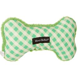 Harry Barker Gingham Bone Canvas Small Dog Toy