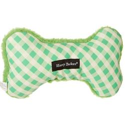 Gingham Bone Canvas Small Dog Toy