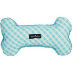 Gingham Bone Canvas Dog Toy