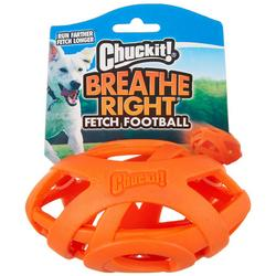 Breath Right Fetch Football Dog Toy