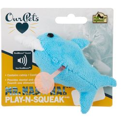 Our Pets Mr. Narwhal Play-N-Squeak Cat Toy
