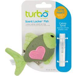 Turbo Fish Cat Toy & Catnip Spray