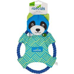 Rascals Fetch Raccoon & Rope Squeaker Dog Toy