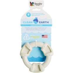 Spunky Pup Clean Earth Ring Chew Dog Toy